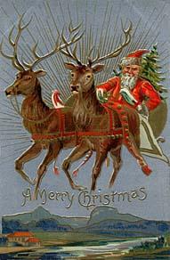Holding Up Santa
